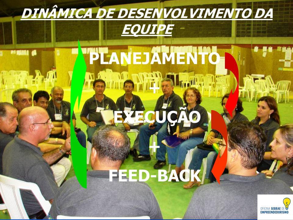 DINÂMICA DE DESENVOLVIMENTO DA EQUIPE PLANEJAMENTO + EXECUÇÃO + FEED-BACK