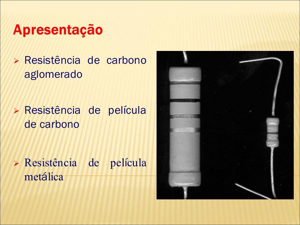 Apresentação Resistência de carbono aglomerado Resistência de película de carbono Resistência de pel í cula met á lica