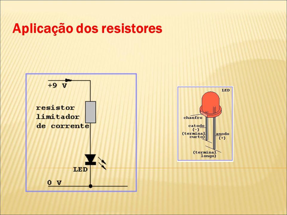Aplicação dos resistores
