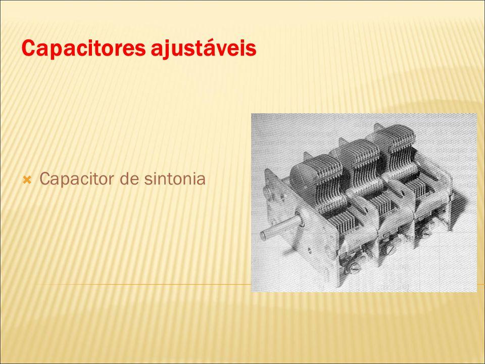 Capacitores ajustáveis Capacitor de sintonia