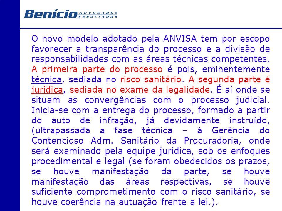 O novo modelo adotado pela ANVISA tem por escopo favorecer a transparência do processo e a divisão de responsabilidades com as áreas técnicas competen