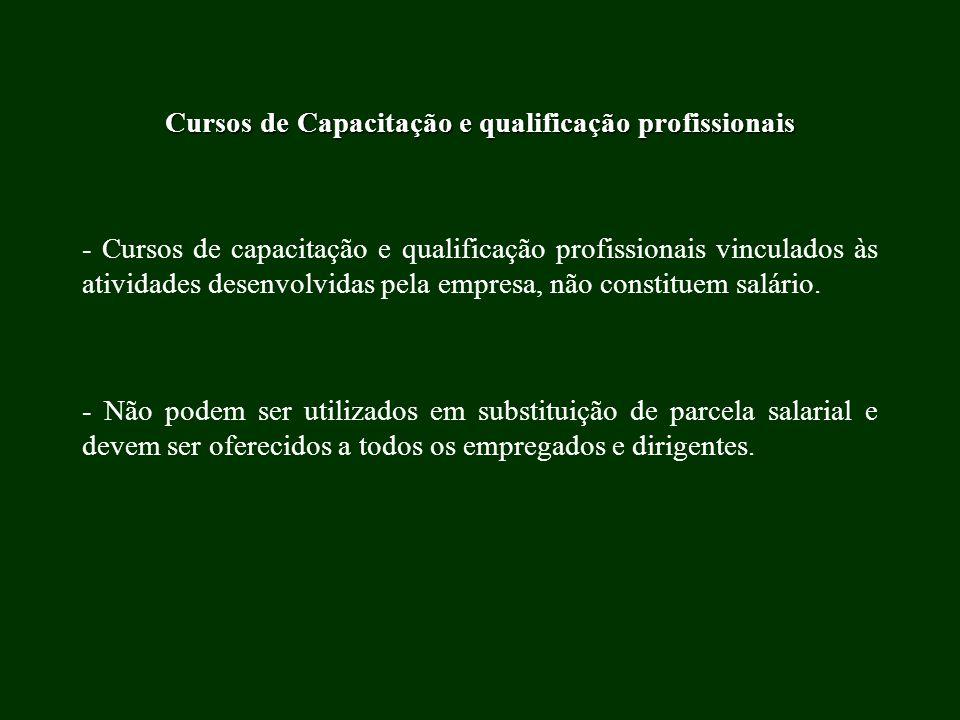 Cursos de Capacitação e qualificação profissionais - Cursos de capacitação e qualificação profissionais vinculados às atividades desenvolvidas pela em
