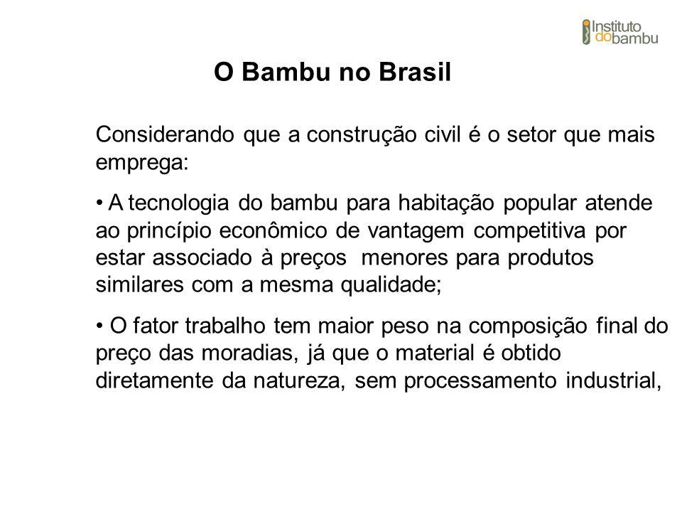 O Bambu no Brasil Considerando que a construção civil é o setor que mais emprega: A tecnologia do bambu para habitação popular atende ao princípio eco