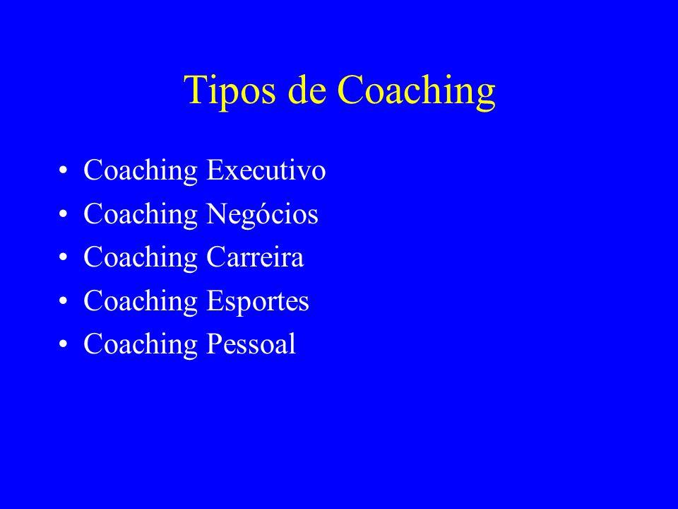Tipos de Coaching Coaching Executivo Coaching Negócios Coaching Carreira Coaching Esportes Coaching Pessoal