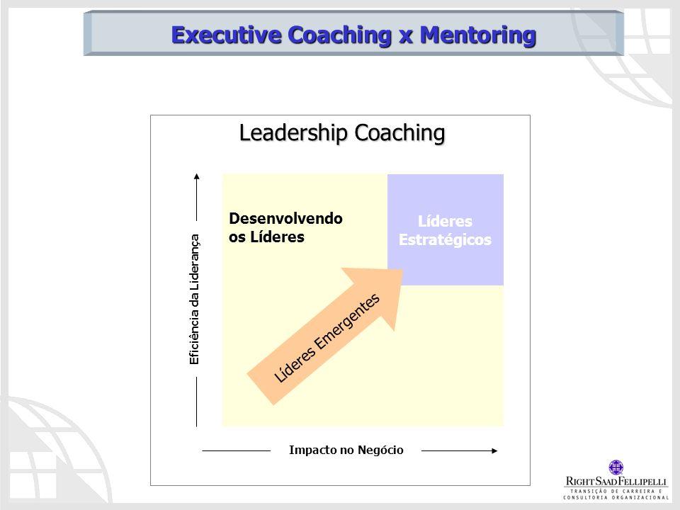 Leadership Coaching Desenvolvendo os Líderes Líderes Estratégicos Líderes Emergentes Impacto no Negócio Eficiência da Liderança