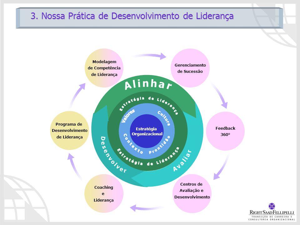 Gerenciamento de Sucessão Modelagem de Competência de Liderança Centros de Avaliação e Desenvolvimento Coaching e Liderança Feedback 360° Programa de