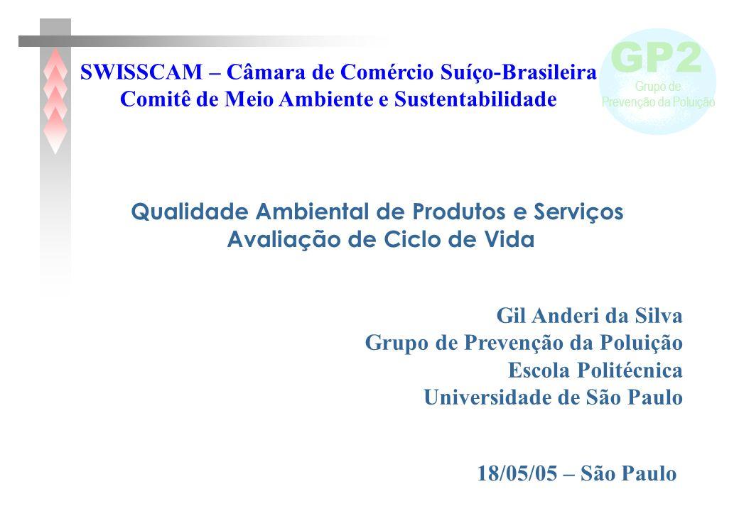 GP2 Grupo de Prevenção da Poluição Gil Anderi da Silva Grupo de Prevenção da Poluição Escola Politécnica Universidade de São Paulo SWISSCAM – Câmara d