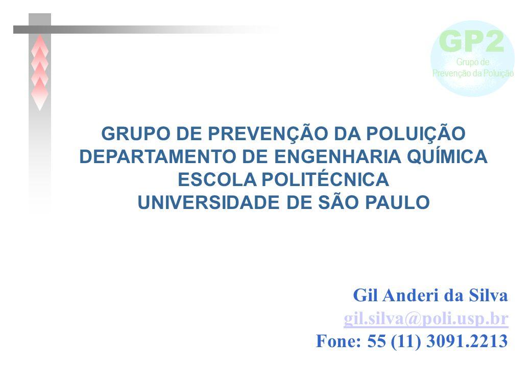 GP2 Grupo de Prevenção da Poluição Gil Anderi da Silva gil.silva@poli.usp.br Fone: 55 (11) 3091.2213 GRUPO DE PREVENÇÃO DA POLUIÇÃO DEPARTAMENTO DE EN