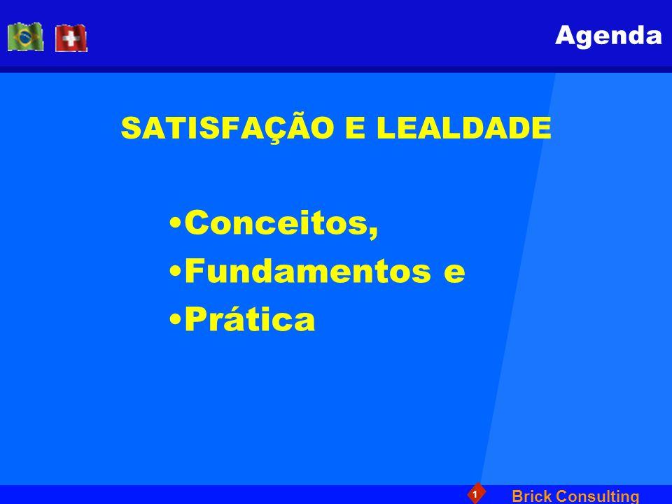 Brick Consulting 1 SATISFAÇÃO E LEALDADE Conceitos, Fundamentos e Prática Agenda