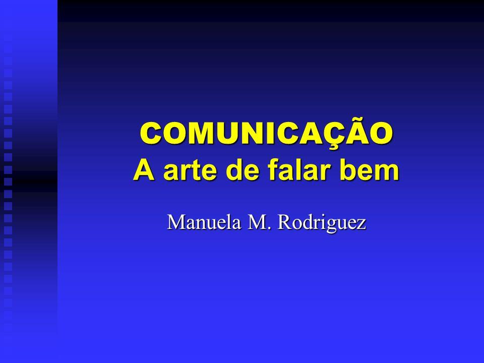COMUNICAÇÃO A arte de falar bem Manuela M. Rodriguez