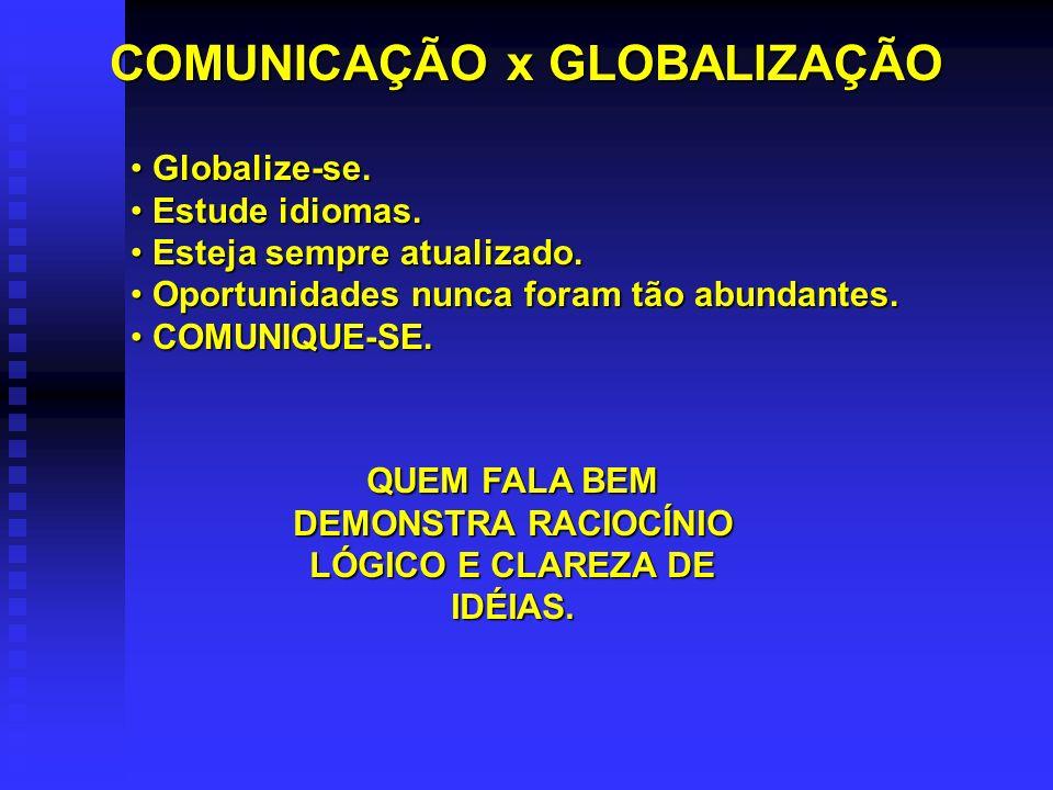 COMUNICAÇÃO x GLOBALIZAÇÃO Globalize-se.Globalize-se.