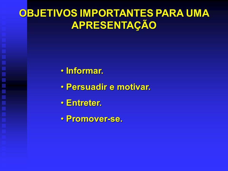 Informar.Informar. Persuadir e motivar. Persuadir e motivar.