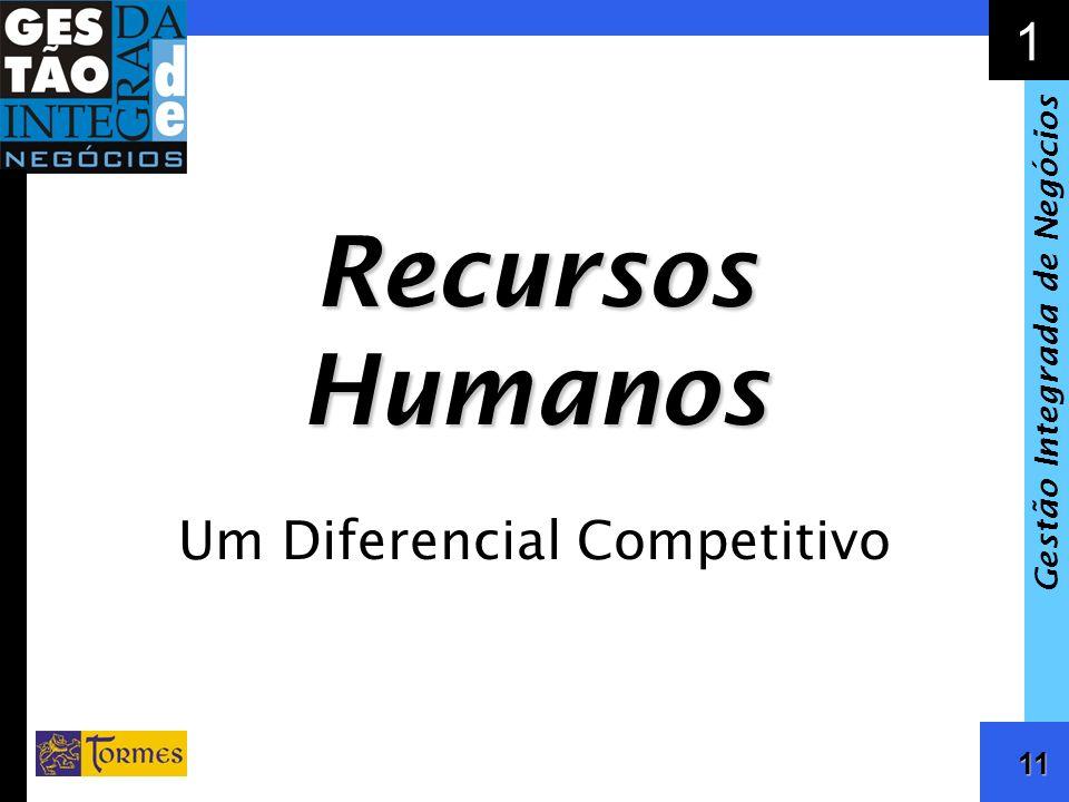 12 1 Gestão Integrada de Negócios Competitividade e Recursos Humanos Definição Estratégica –Posicionamento no Mercado –Recursos Tecnológicos, Financeiros e Humanos –Processos de Gestão Papel da Liderança Clima Organizacional –Satisfação –Motivação –Comprometimento