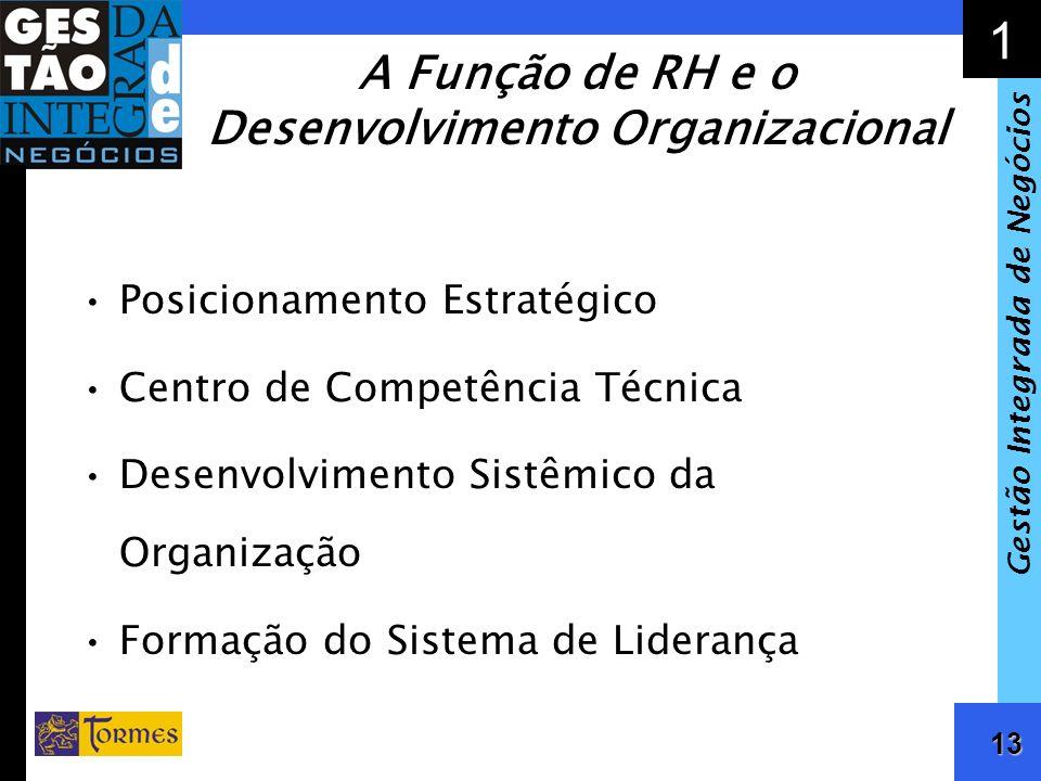 14 1 Gestão Integrada de Negócios Gestão de Competências Exigências Competitivas Competências Organizacionais Requeridas Perfil e Competências de RH Antecipação dos Desafios Organizacionais Definição dos Diferenciais Competitivos Compatibilização de Recrutamento e Seleção Desenvolvimento, Capacitação e Sucessão