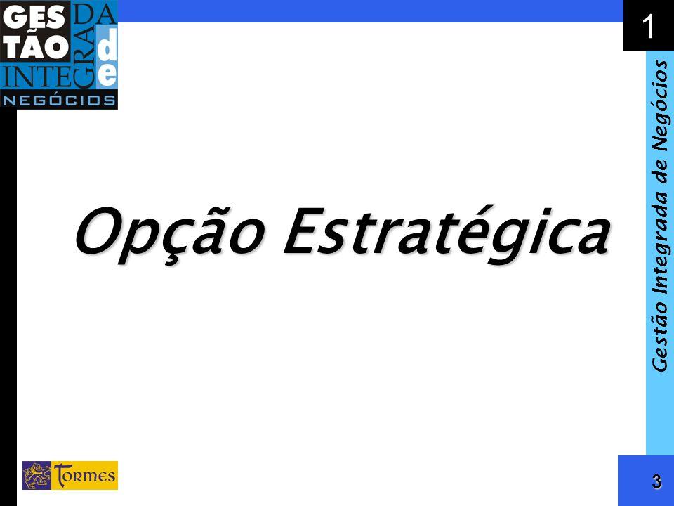 4 1 Gestão Integrada de Negócios Elementos da Opção Estratégica: Valores Missão Visão Negócio, Mercado e Clientes Os Inter-Relacionamentos da Empresa Equação Financeira Desejada Papel dos Acionistas