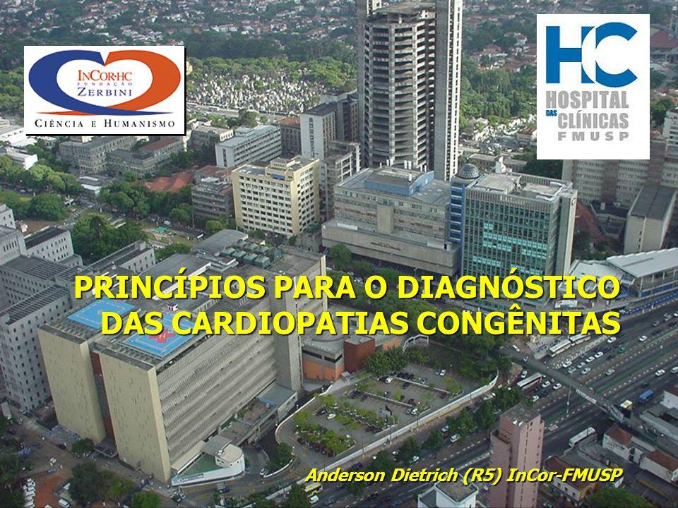 PRINCÍPIOS PARA O DIAGNÓSTICO DAS CARDIOPATIAS CONGÊNITAS Anderson Dietrich (R5) InCor-FMUSP