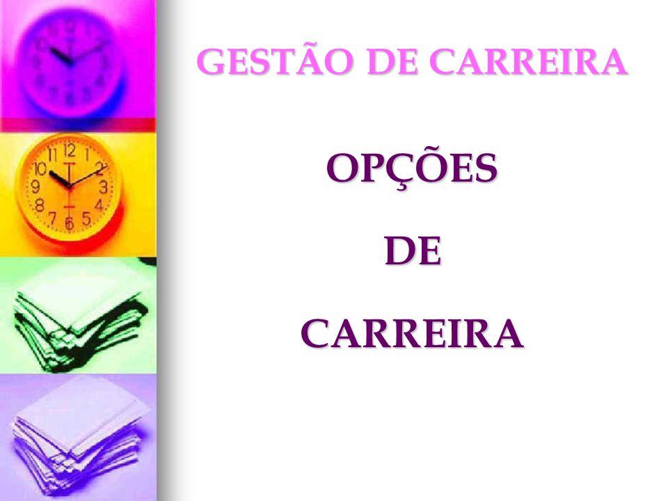 GESTÃO DE CARREIRA OPÇÕESDECARREIRA