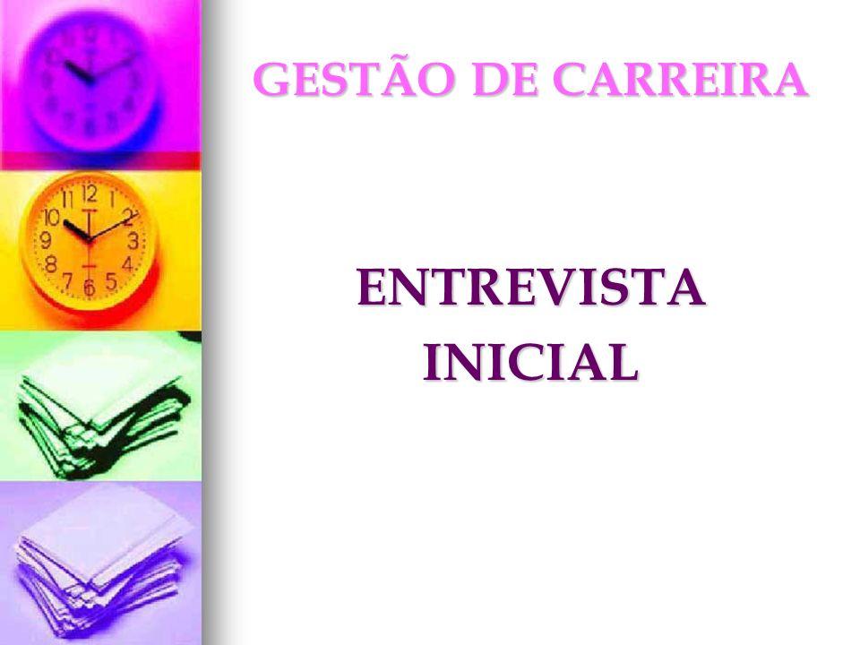 GESTÃO DE CARREIRA ENTREVISTAINICIAL