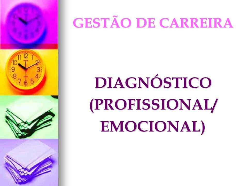 DIAGNÓSTICO(PROFISSIONAL/EMOCIONAL)