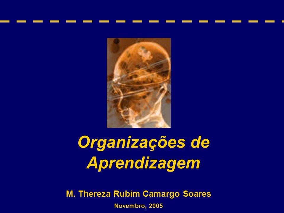 M. Thereza Rubim Camargo Soares Novembro, 2005 Organizações de Aprendizagem