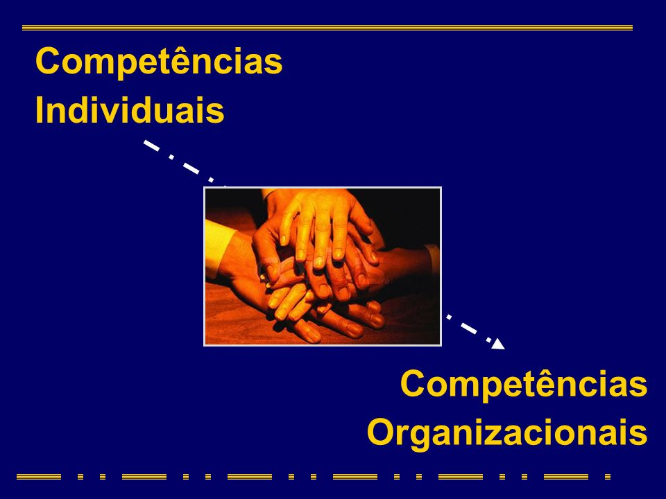 Competências Organizacionais Competências Individuais