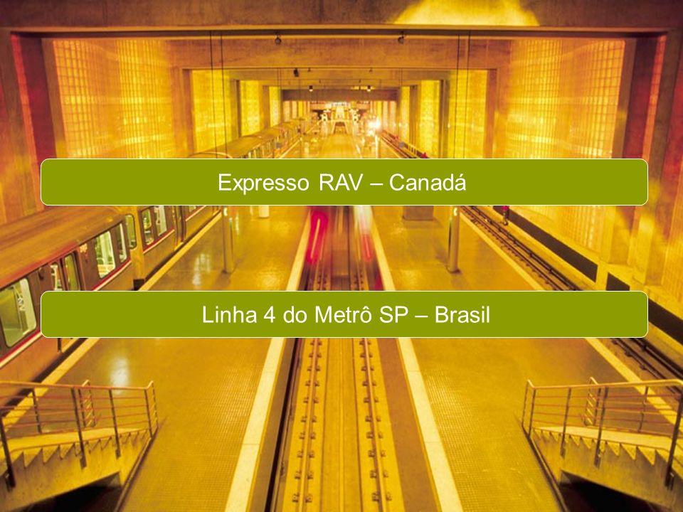 PricewaterhouseCoopers SWISSCAM – PPPs Aspectos Jurídicos e Financeiros Page 14 Expresso RAV – Canadá Linha 4 do Metrô SP – Brasil