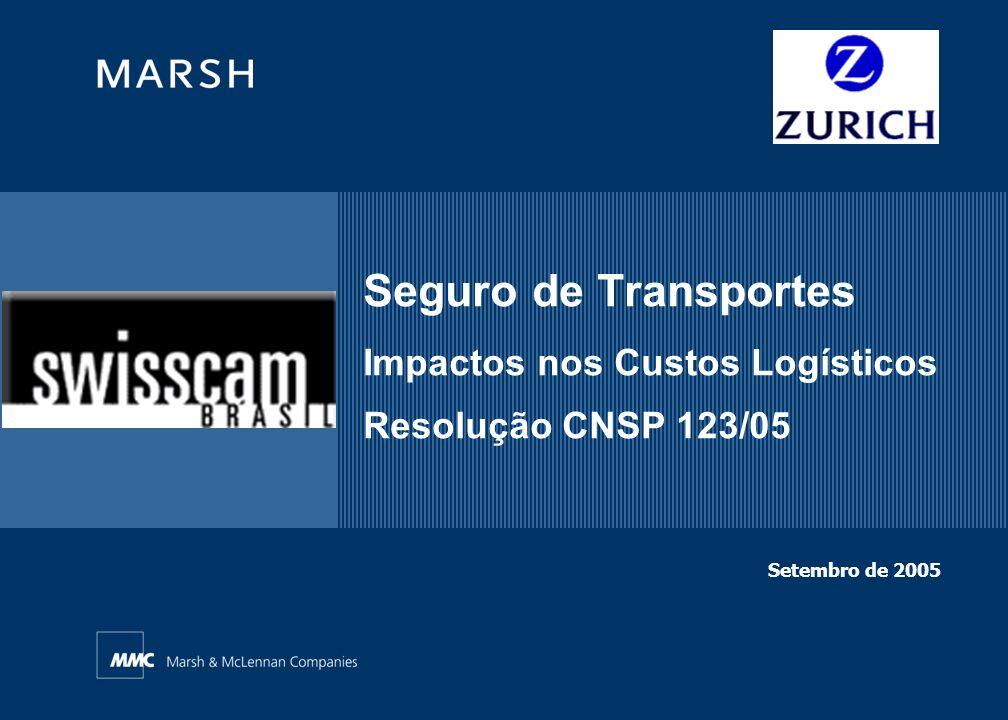 Seguro de Transportes Impactos nos Custos Logísticos Resolução CNSP 123/05 Setembro de 2005