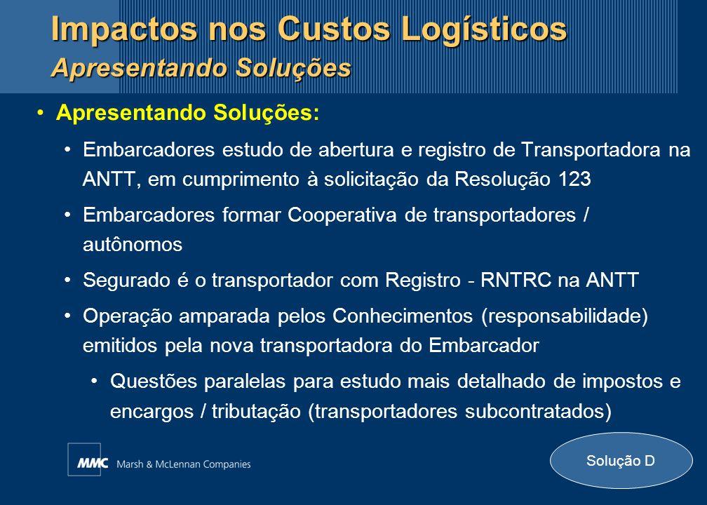 Apresentando Soluções: Embarcadores estudo de abertura e registro de Transportadora na ANTT, em cumprimento à solicitação da Resolução 123 Embarcadore