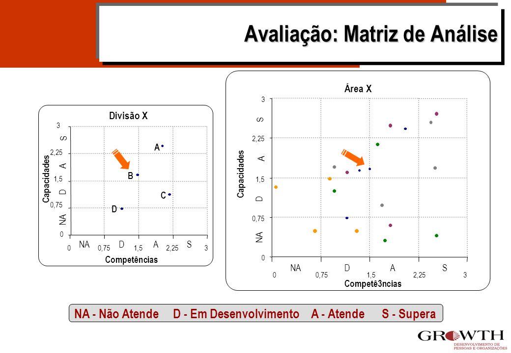 NA (0) A (2) S (3) D (1) Sistema de Avaliação - Ferramenta CAPACIDADES NÍVEL 4 Avaliação FORMAÇÃO Ensino Médio ou Técnico em Química EXPERIÊNCIA Ensin