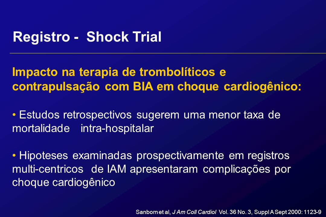 Impacto na terapia de trombolíticos e contrapulsação com BIA em choque cardiogênico: Estudos retrospectivos sugerem uma menor taxa de mortalidade intr