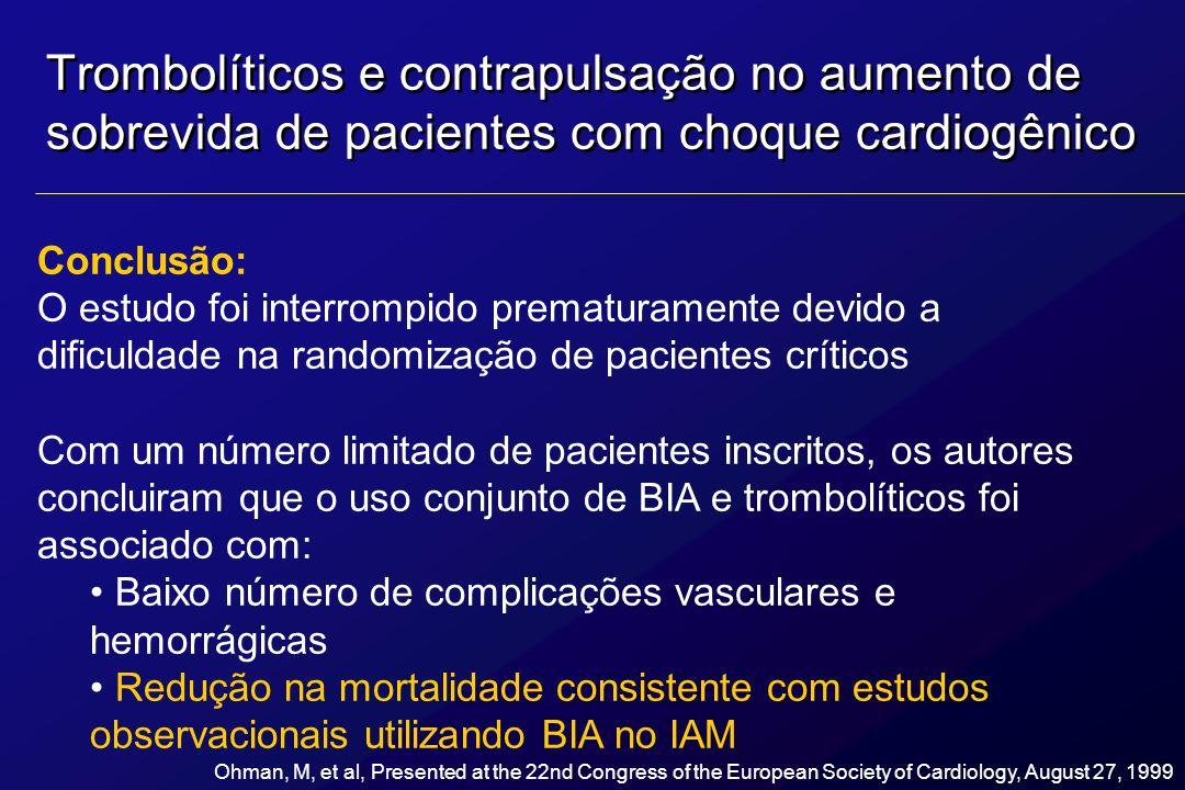 Conclusão: O estudo foi interrompido prematuramente devido a dificuldade na randomização de pacientes críticos Com um número limitado de pacientes ins