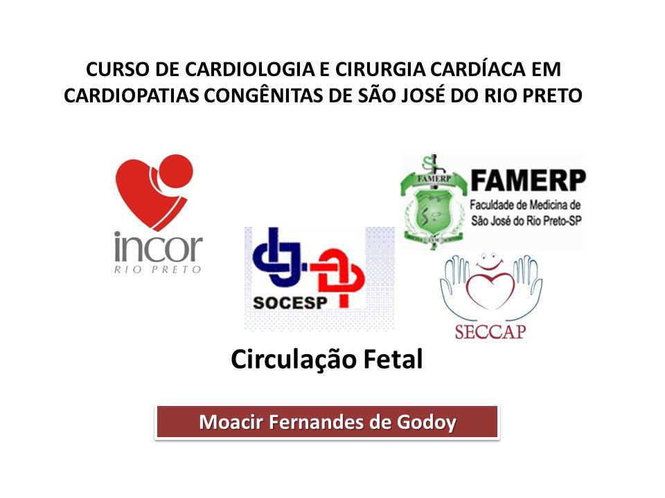 CURSO DE CARDIOLOGIA E CIRURGIA CARDÍACA EM CARDIOPATIAS CONGÊNITAS DE SÃO JOSÉ DO RIO PRETO Circulação Fetal Moacir Fernandes de Godoy