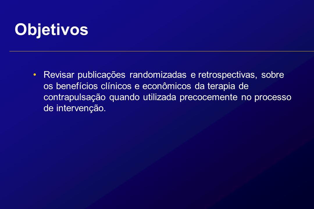 Objetivos Revisar publicações randomizadas e retrospectivas, sobre os benefícios clínicos e econômicos da terapia de contrapulsação quando utilizada p