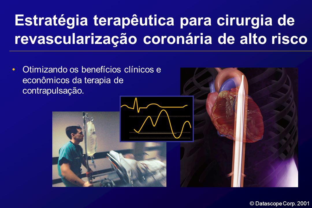© Datascope Corp. 2001 Estratégia terapêutica para cirurgia de revascularização coronária de alto risco Otimizando os benefícios clínicos e econômicos