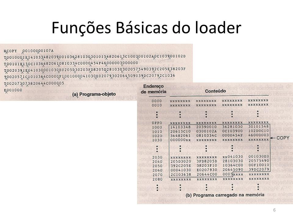 Funções Básicas do loader 6