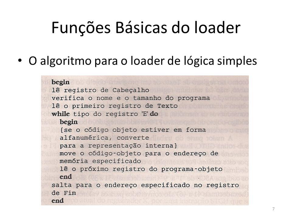 O algoritmo para o loader de lógica simples 7