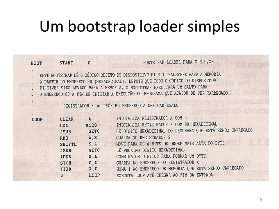 Um bootstrap loader simples 9