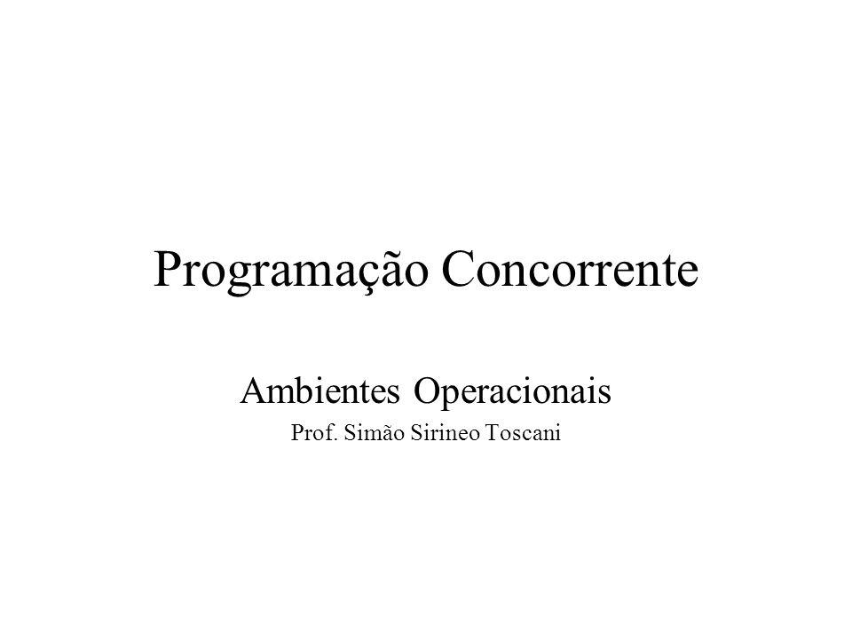 Programação Concorrente Ambientes Operacionais Prof. Simão Sirineo Toscani