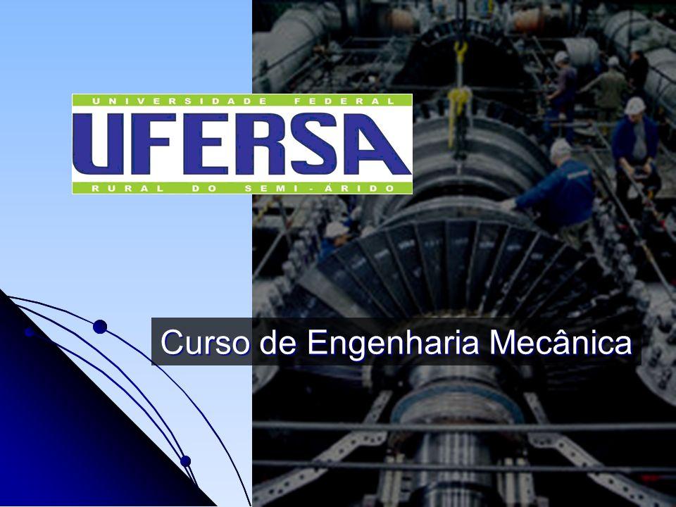 Engenharia Mecânica É uma das áreas mais solicitadas no mercado industrial Combina os conhecimentos das Ciências Exatas (Física, Matemática, Química...) com Conhecimentos Tecnológicos (Materiais, Termodinâmica, Mecânica dos Fluidos, Processos de Fabricação, Manutenção, Projeto Mecânico) para a solução de problemas
