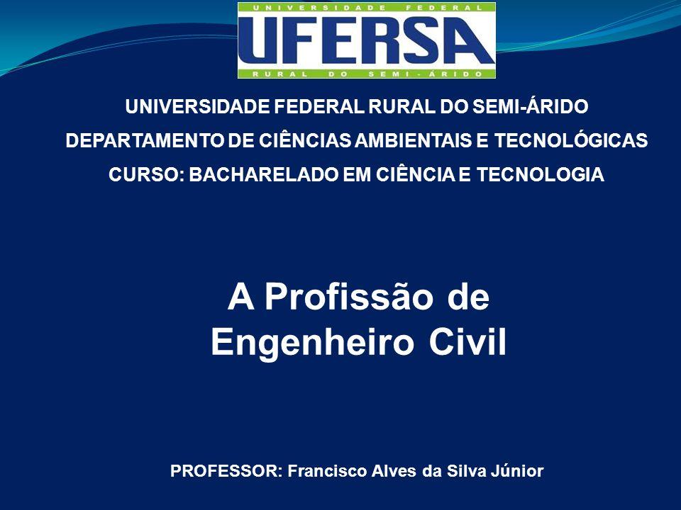 UNIVERSIDADE FEDERAL RURAL DO SEMI-ÁRIDO DEPARTAMENTO DE CIÊNCIAS AMBIENTAIS E TECNOLÓGICAS CURSO: BACHARELADO EM CIÊNCIA E TECNOLOGIA A Profissão de