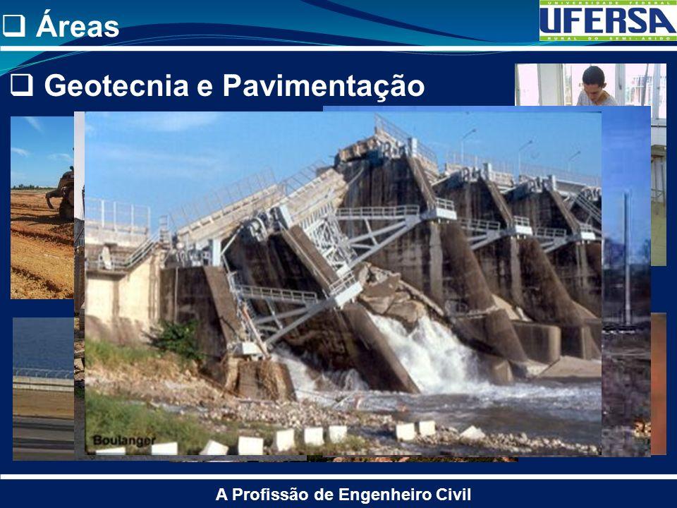 Áreas A Profissão de Engenheiro Civil Geotecnia e Pavimentação
