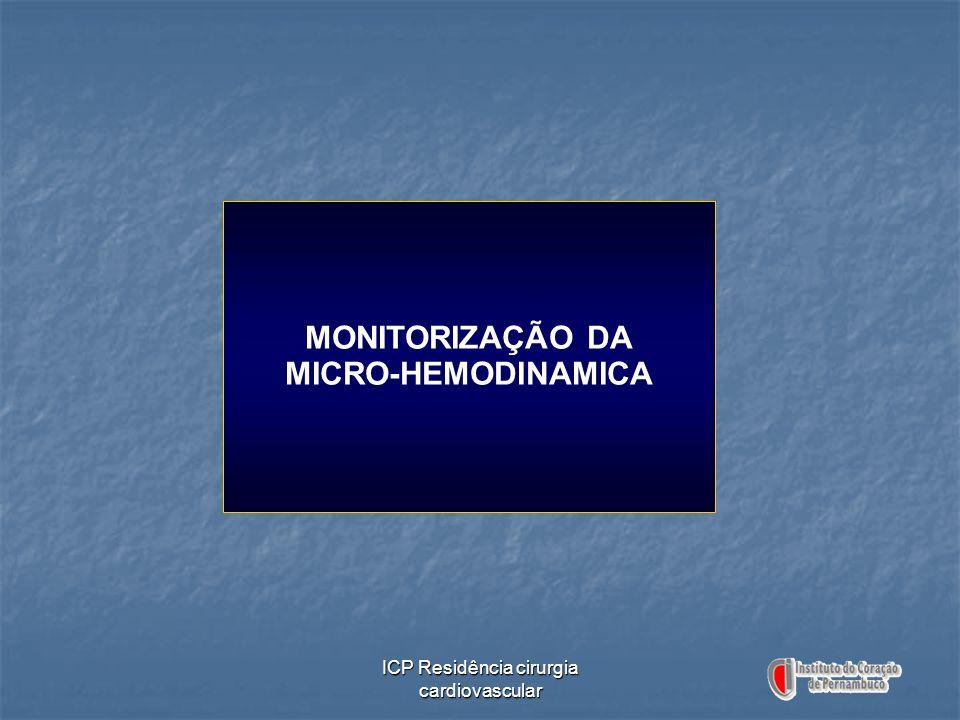ICP Residência cirurgia cardiovascular MONITORIZAÇÃO DA MICRO-HEMODINAMICA