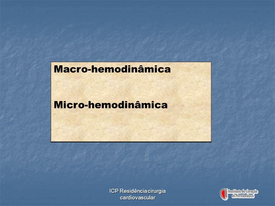 ICP Residência cirurgia cardiovascular Macro-hemodinâmica Micro-hemodinâmica