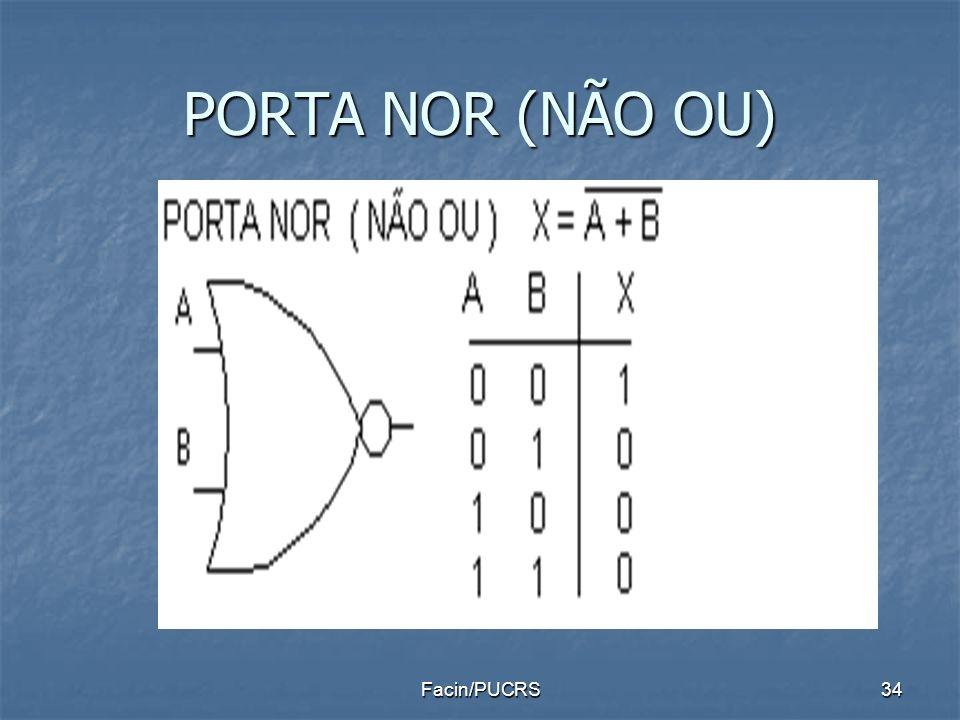 PORTA NOR (NÃO OU) 34Facin/PUCRS