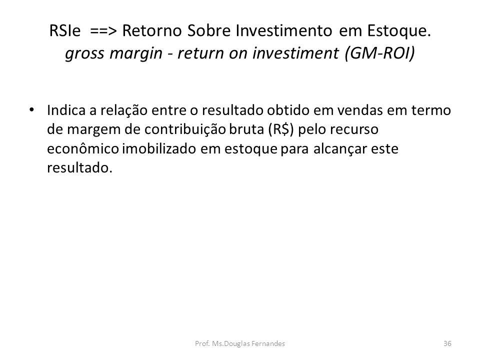 RSIe ==> Retorno Sobre Investimento em Estoque.