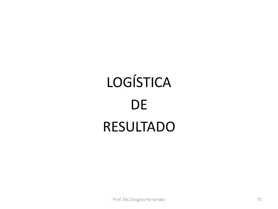 LOGÍSTICA DE RESULTADO Prof. Ms.Douglas Fernandes75