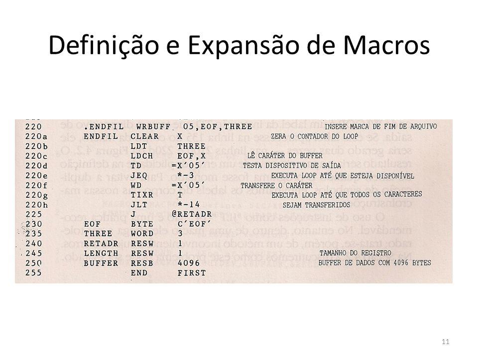 Definição e Expansão de Macros 11