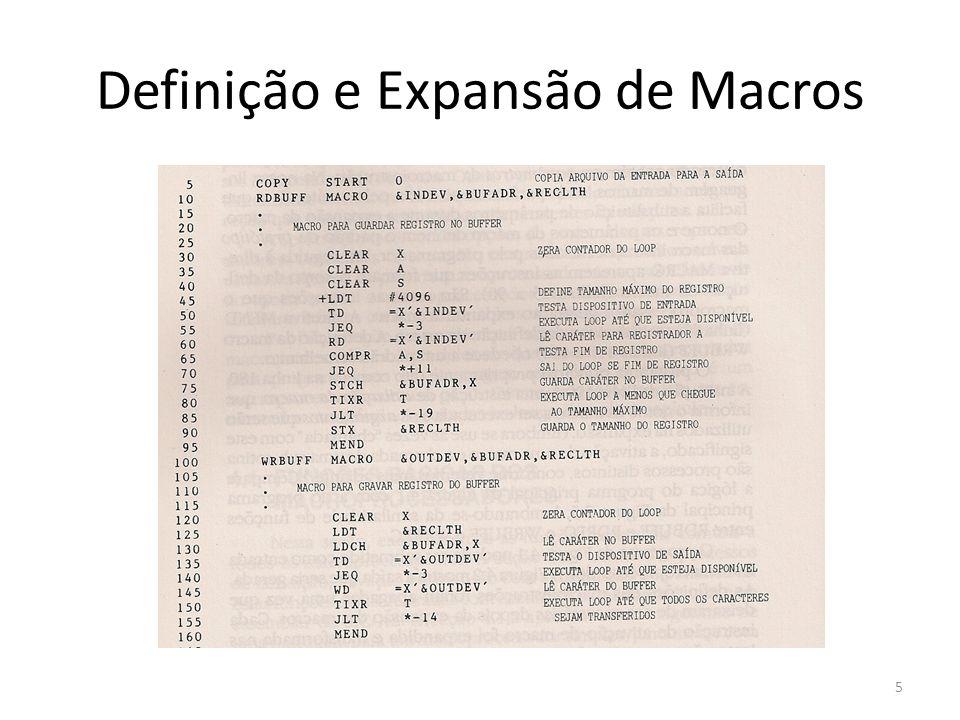 Definição e Expansão de Macros 5