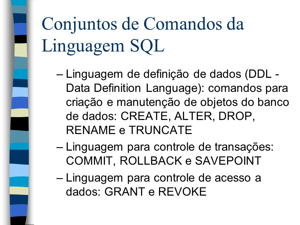 CREATE TABLE autores ( cod_autor NUMBER ( 4 ) NOT NULL, nome VARCHAR2 ( 100 ) NOT NULL, descricao VARCHAR2 ( 1024 ), CONSTRAINT PK_AUTORES PRIMARY KEY (cod_autor) ) TABLESPACE TSP_CURSOSQL / CREATE TABLE pedidos ( num_pedido NUMBER ( 7 ) NOT NULL, cod_cliente NUMBER ( 6 ) NOT NULL, cod_endereco NUMBER ( 2 ) NOT NULL, data_emissao DATE NOT NULL, CONSTRAINT PK_PEDIDOS PRIMARY KEY (num_pedido) ) TABLESPACE TSP_CURSOSQL / CREATE TABLE autores_produtos ( cod_autor NUMBER ( 4 ) NOT NULL, cod_produto NUMBER ( 5 ) NOT NULL, CONSTRAINT PK_AUTORES_PRODUTOS PRIMARY KEY (cod_autor, cod_produto) ) TABLESPACE TSP_CURSOSQL / ALTER TABLE administradores ADD ( CONSTRAINT FK_USU_ADM FOREIGN KEY (cod_administrador) REFERENCES usuarios (cod_usuario)) / ALTER TABLE clientes_enderecos ADD ( CONSTRAINT FK_CLI_CLIEND FOREIGN KEY (cod_cliente) REFERENCES clientes (cod_cliente)) /