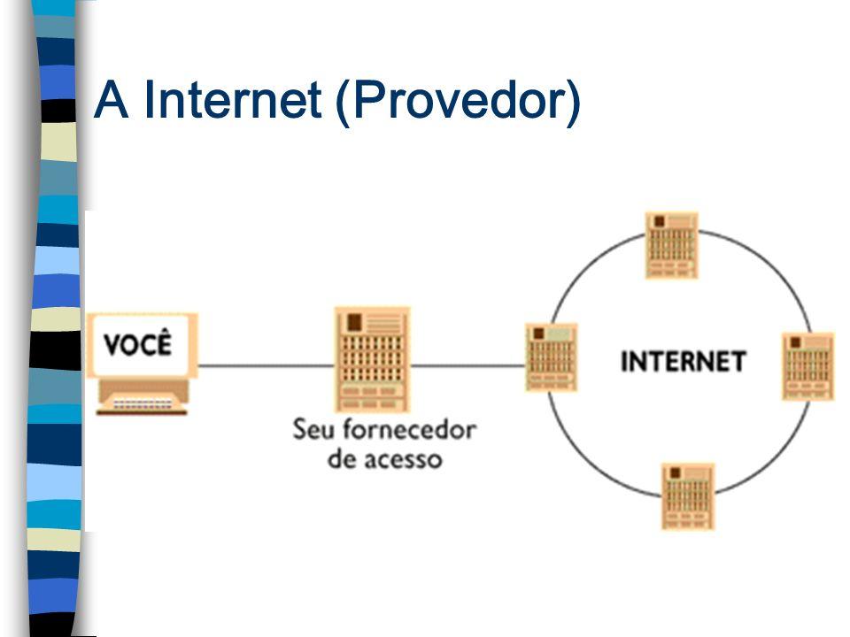 O que a Internet proporciona.n Troca de correspondências n Obtenção de programas, arquivos, etc...